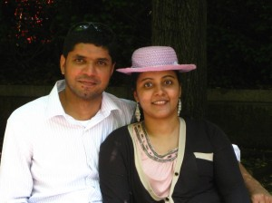 Ranjith and his wife, Anjana