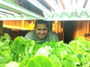 Oscar after doing an internal food safety audit at Upstream Aquaponics, a local project where fish and lettuce are grown in a water/nutrition recycling system