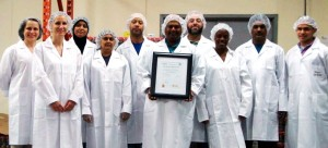 Christan Mark Spices team after acquiring its Safe Quality Foods certification in 2012