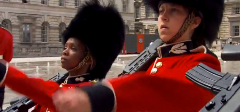 Amy and Maya changing of the guards