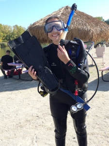 When not picking gummy bears off her keyboard, Esther likes to scuba dive.