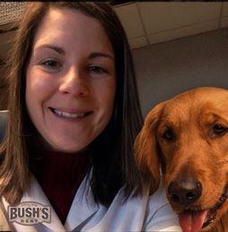 Work selfie with Duke