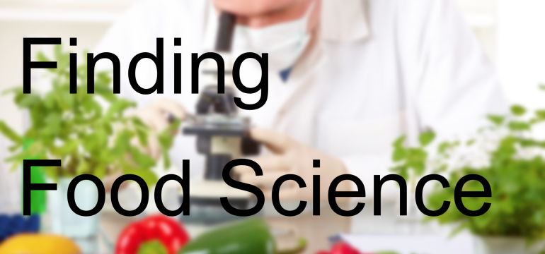 Finding Food Science
