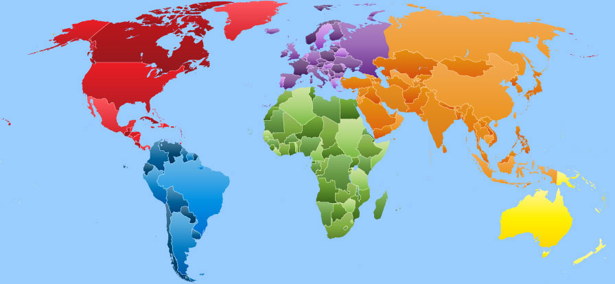 world-map-continents-and-countries |Science Meets Food