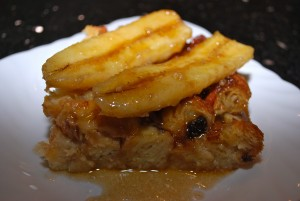 Combination of Bread Pudding and Banana Fosters - Image via louisiana.kitchenandculture.com