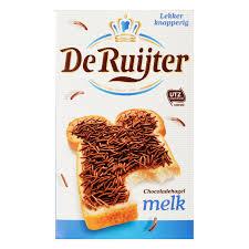 Source: http://www.ah.nl/producten/ontbijtgranen-broodbeleg-tussendoor/zoet-beleg/hagelslag/merk=De+Ruijter