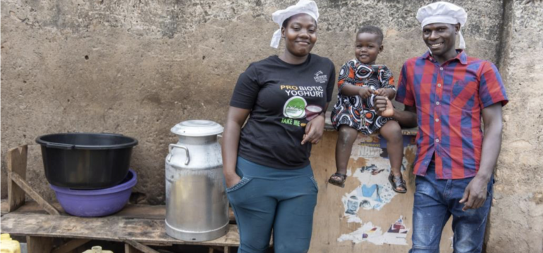 One of the more than 250+ small businesses in East Africa that are making probiotic yogurt thanks to a collaboration with Yoba for Life that helped develop a probiotic yogurt culture specially designed to fill this need.